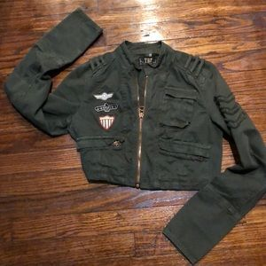 TRF Military crop jacket.  Fun fitted Jkt
